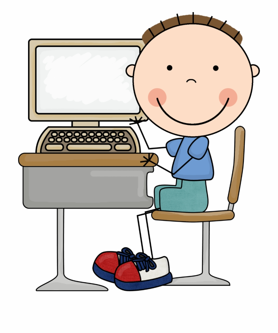 Boy on computer clipart banner freeuse Computers Clipart Boy - Kid On Computer Clipart - cartoon computer ... banner freeuse