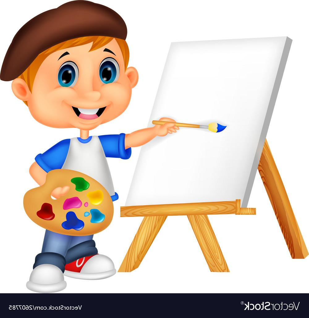 Cartoon painting clipart picture royalty free stock Best Free Cartoon Painting Clip Art Library » Free Vector Art ... picture royalty free stock