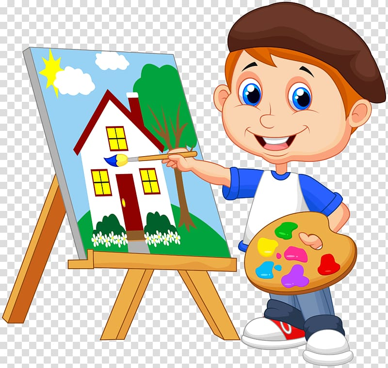 Boy painting clipart image library Boy painting house illustration, Painting Art Drawing, kids cartoon ... image library