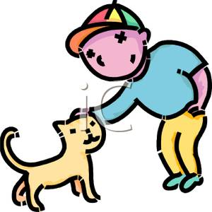 Boy petting clipart banner library stock A Little Boy Petting A Cat - Royalty Free Clipart Picture banner library stock