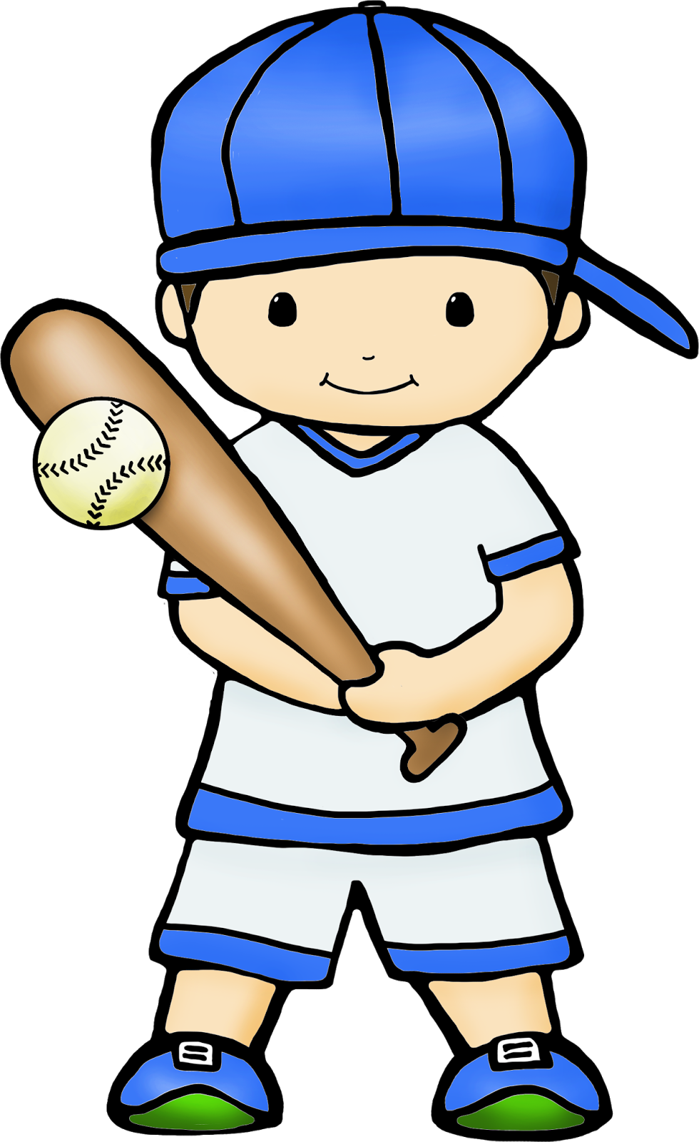 Boy playing baseball clipart vector royalty free stock SLAM through the SCHOOL YEAR with FUN GAMES that TEACH CONCEPTS - vector royalty free stock