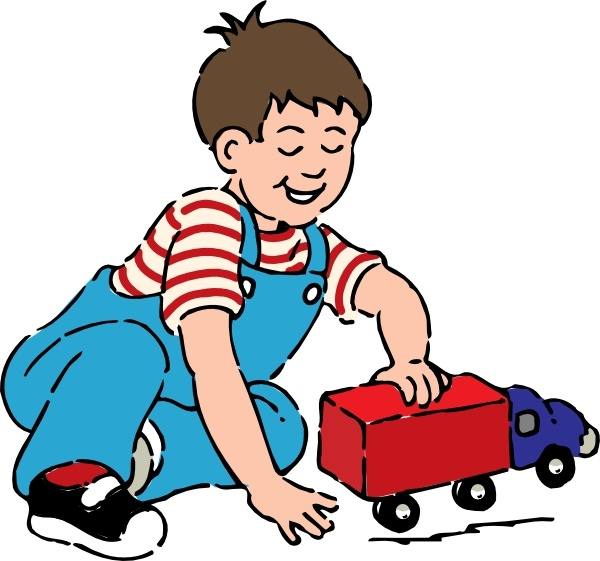 Boy playing clipart banner download Boy Playing With Toy Truck clip art Free vector in Open office ... banner download