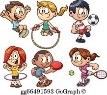 Clipart pla vector free library Kids Playing Clip Art - Royalty Free - GoGraph vector free library