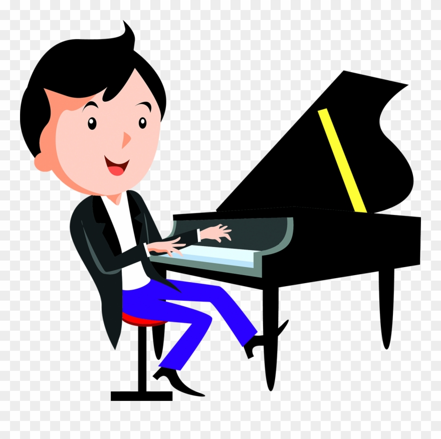 Playing piano clipart banner freeuse Cartoon Piano Child Playing Piano - Play The Piano Dibujo Clipart ... banner freeuse