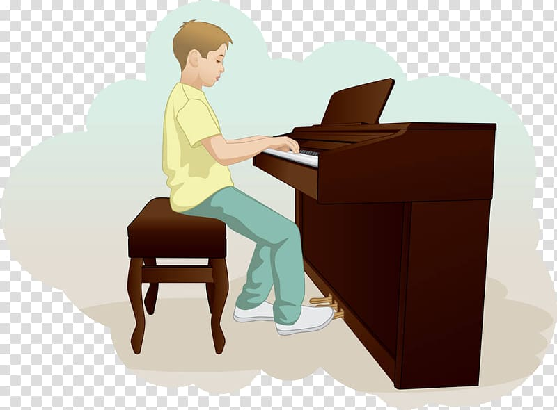 Boy playing piano clipart svg freeuse download Piano Drawing Illustration, The little boy playing the piano ... svg freeuse download
