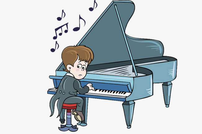 Boy playing piano clipart clip art transparent library Download Free png A Little Boy Playing The Piano In A Tuxedo, Boy ... clip art transparent library