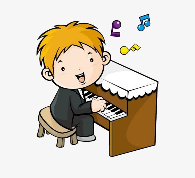Playing piano clipart vector free library Cartoon Boy Playing The Piano PNG, Clipart, Art, Boy Clipart ... vector free library