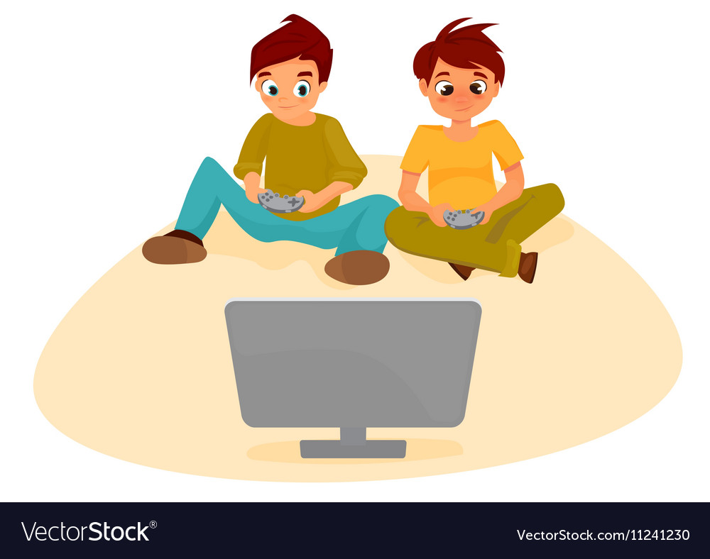 Boy playing video games clipart clip art library library Boys playing video games clip art library library