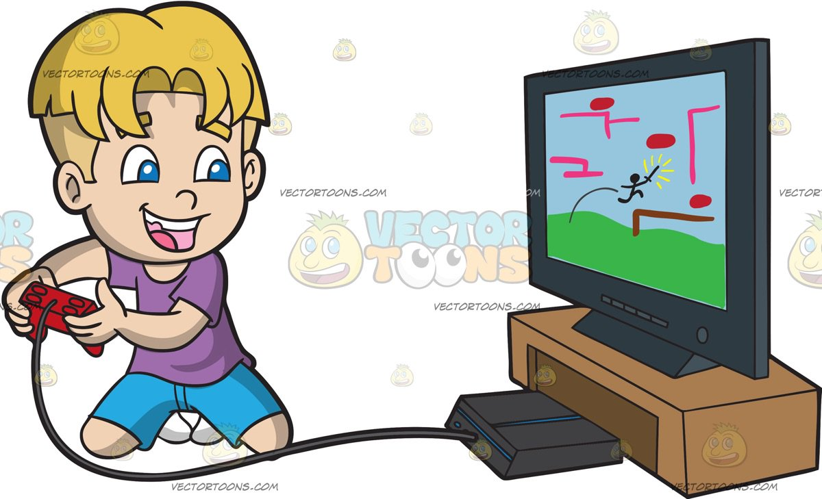 Boy playing video games clipart image free library Boy playing video games clipart 4 » Clipart Station image free library