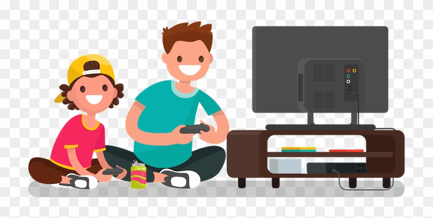 Boy playing video games clipart banner stock Playing Video Games Clipart - Play Video Games Animation - Png ... banner stock