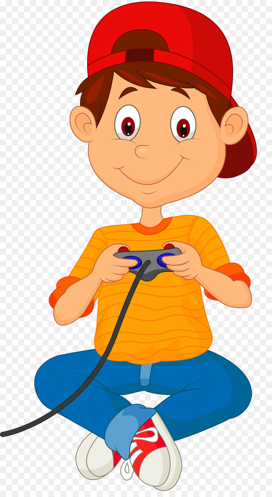 Boy playing video games clipart picture freeuse Boy Cartoon png download - 2771*4999 - Free Transparent Video Games ... picture freeuse
