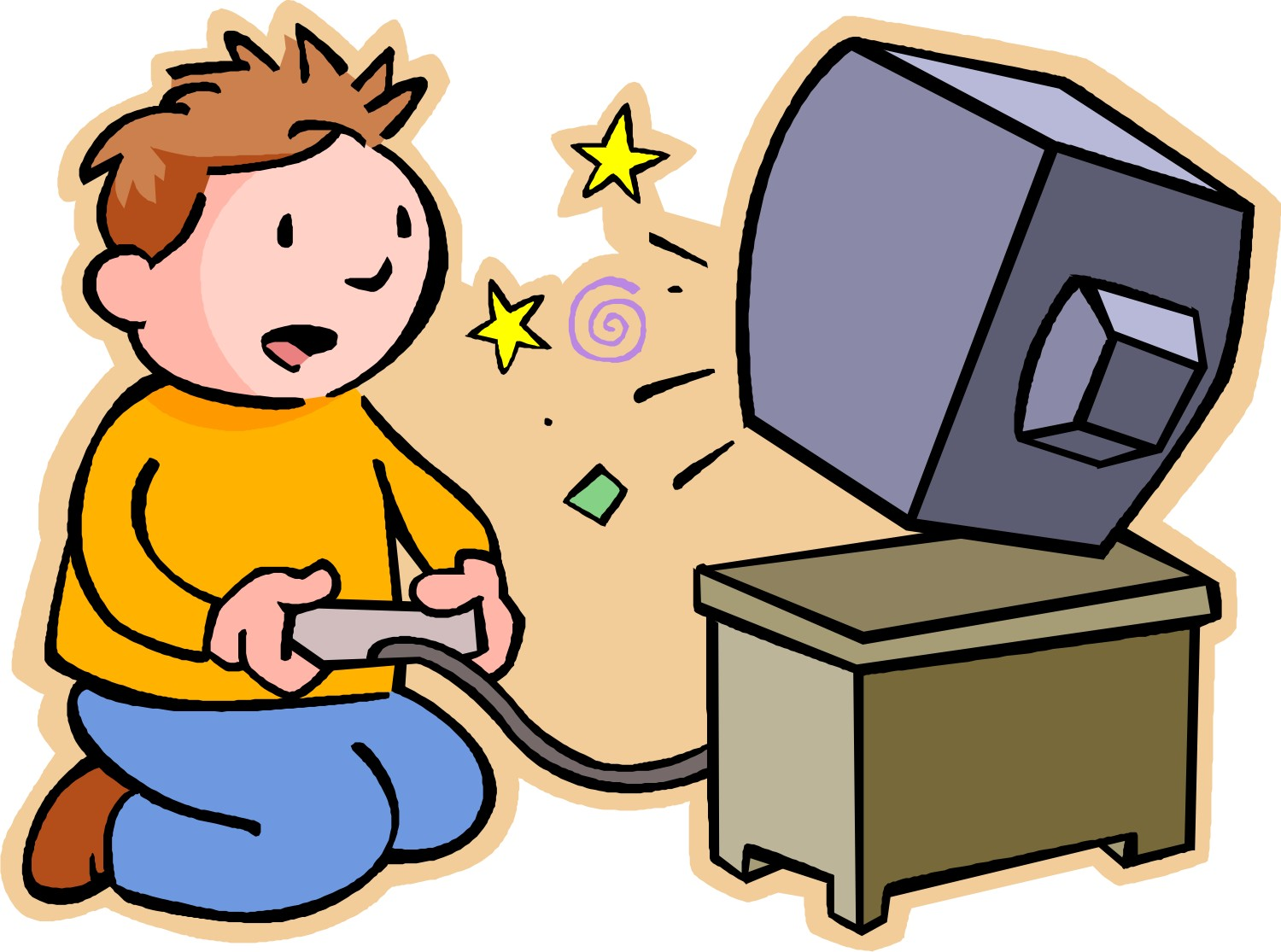 Video game clipart pictures clipart black and white library Playing Video Games Clipart | Free download best Playing Video Games ... clipart black and white library