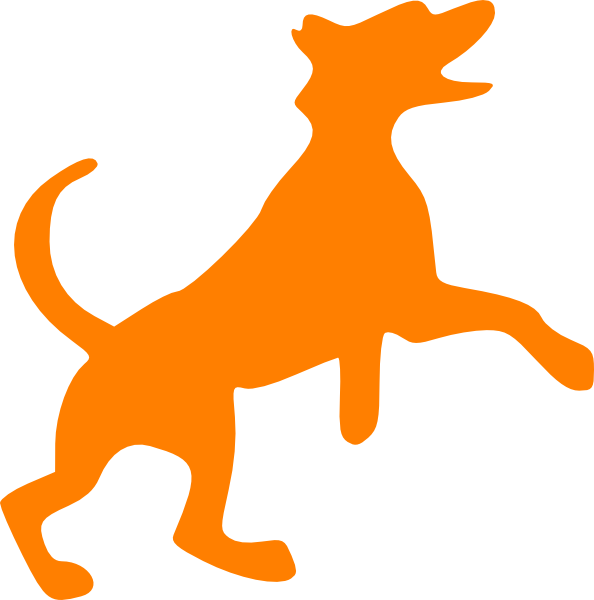 Orange clip art at. Dog dancing clipart