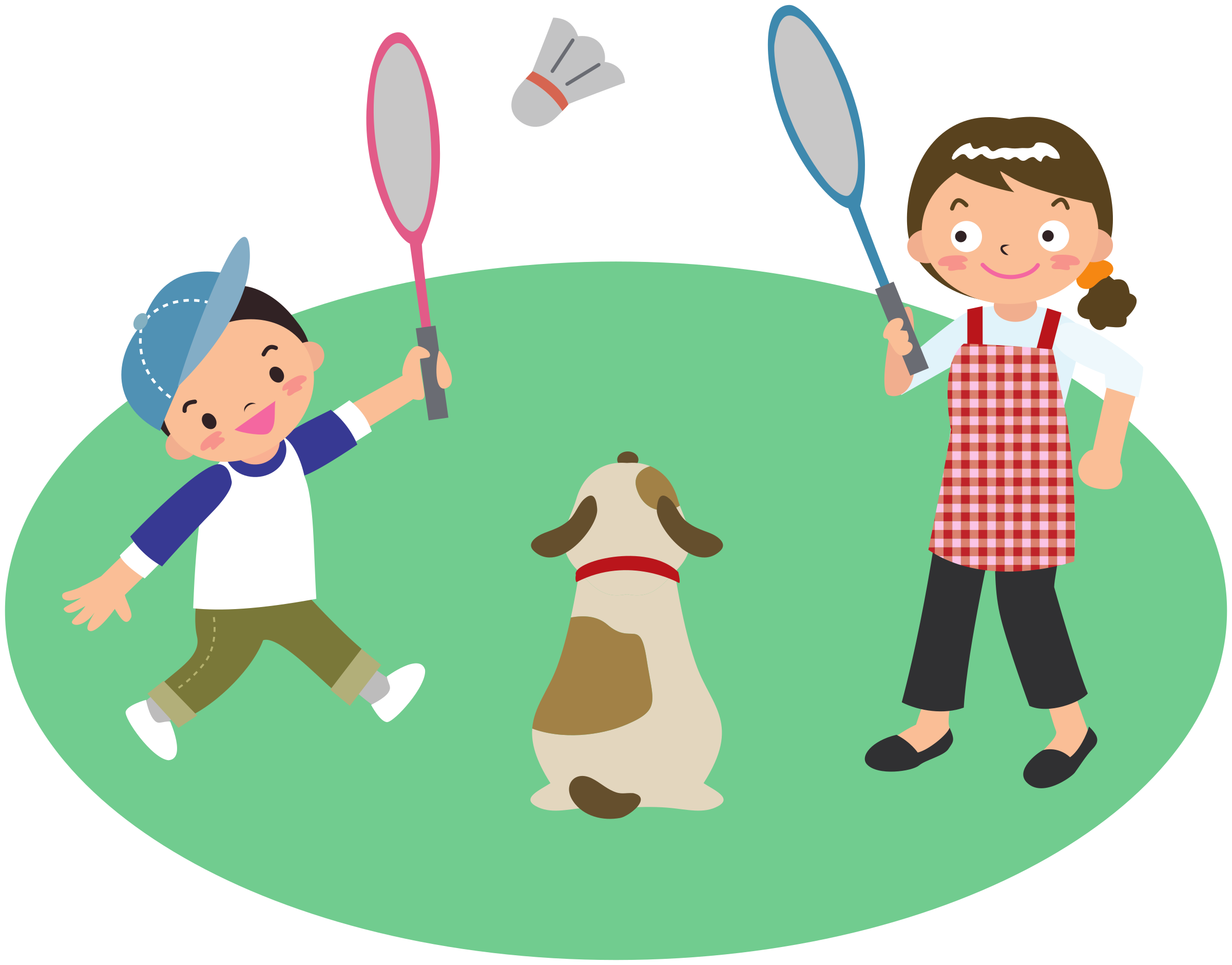 Child and dog clipart clipart library download Clipart - Mother plays badminton with son and dog clipart library download