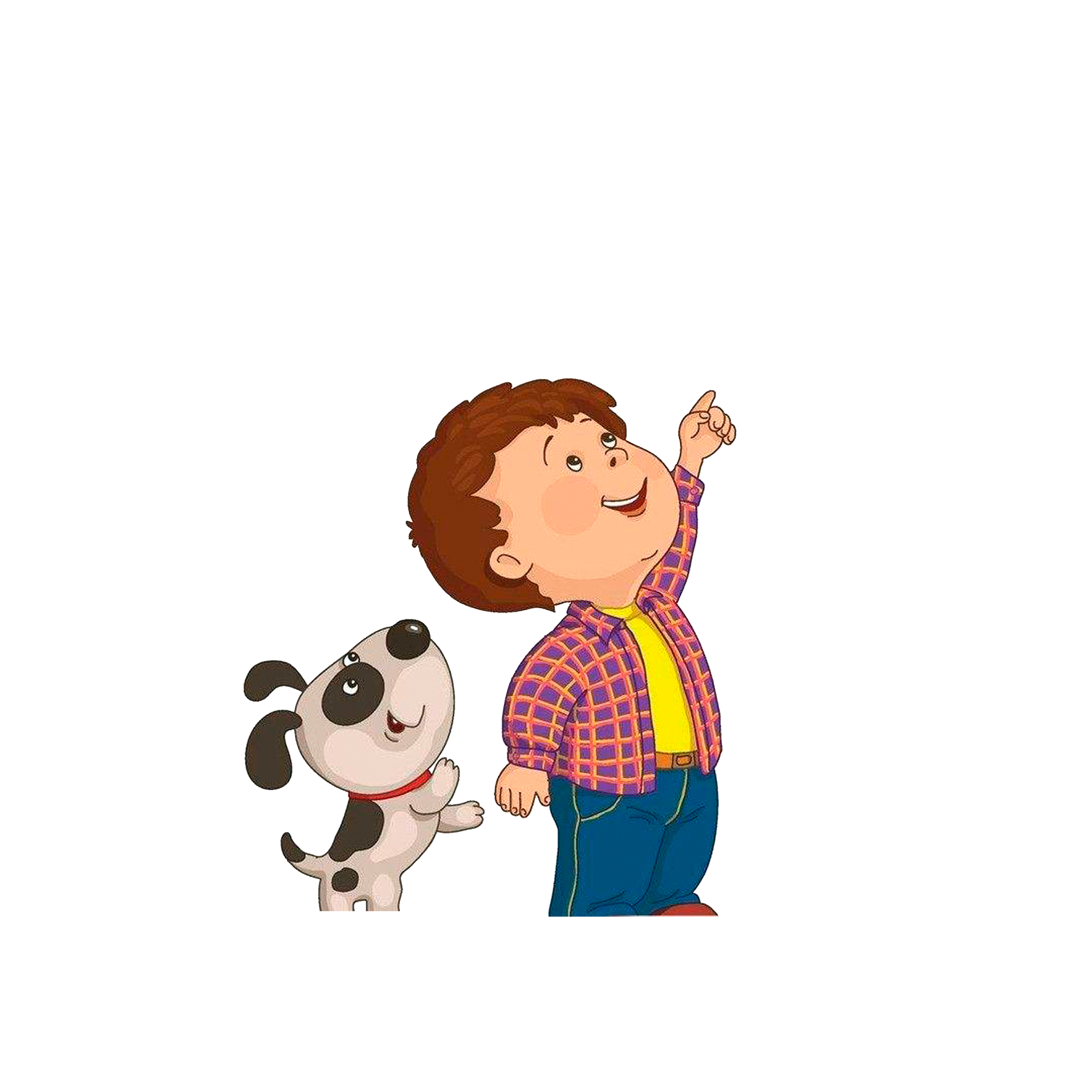 Child and dog clipart jpg free Child Drawing Clip art - Children and dogs looking up at the sky ... jpg free