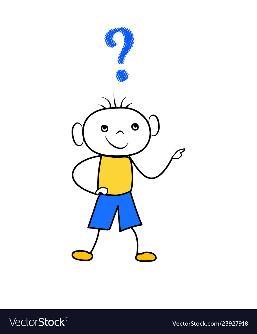 Boy question marks clipart clip transparent stock Doodle boy thinking with question mark scribble clip transparent stock