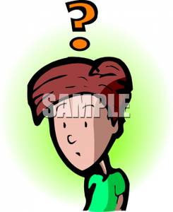 Boy question marks clipart black and white stock Royalty Free Clipart Image: A Confused Cartoon Boy with a Question ... black and white stock