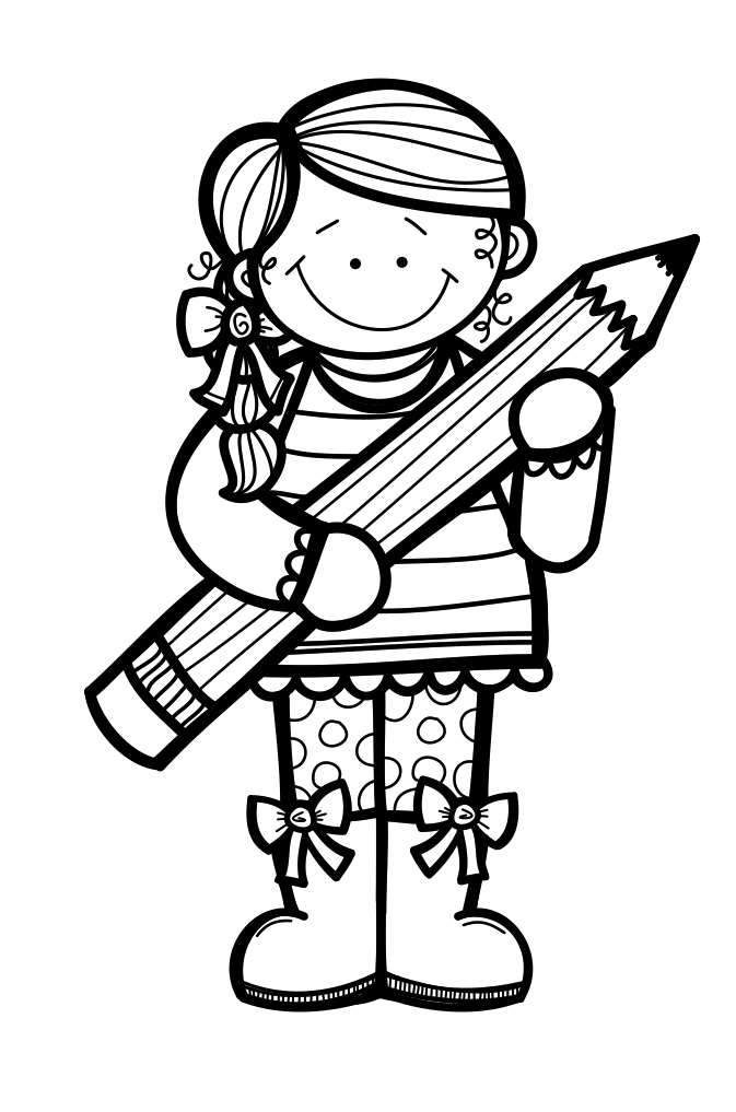 Boy reading a book black and white clipart banner freeuse stock Black and white kids clipart writing banner freeuse stock