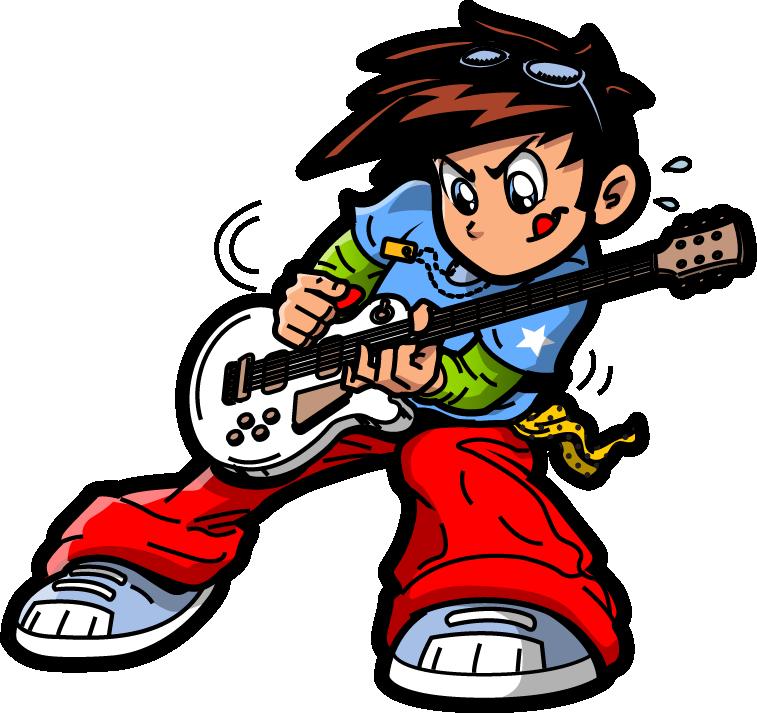 Boy rock star clipart clip art transparent library Rock music Rockstar Clip art - Hand-painted guitar rock boy pattern ... clip art transparent library