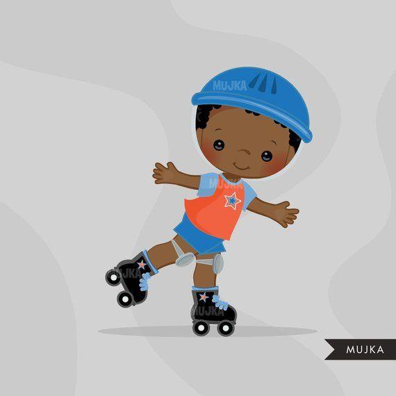 Boy roller skating clipart clip royalty free library Roller Skating boy Clipart. Skating boy graphics, summer, party ... clip royalty free library