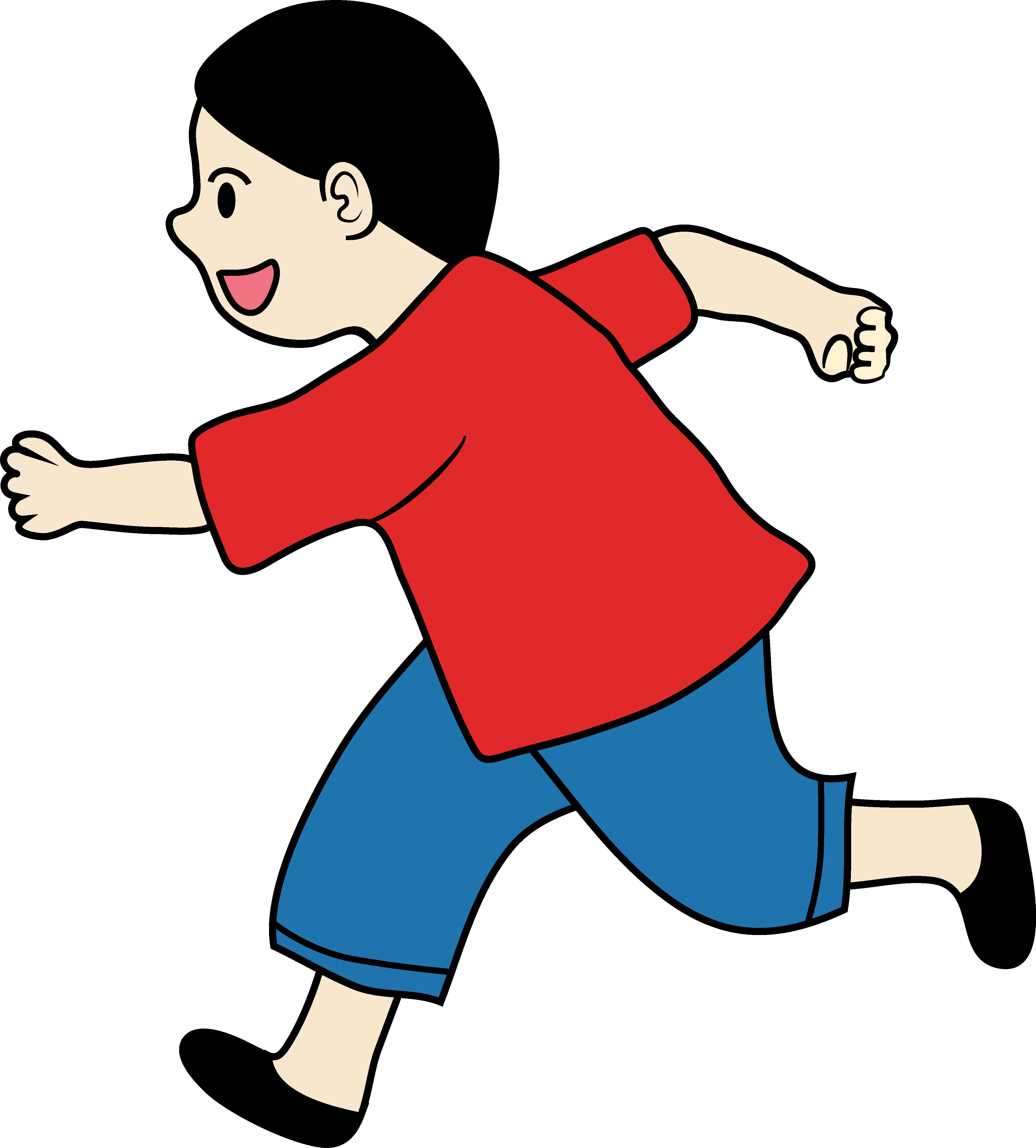 Boy run clipart picture stock Clipart of a Little Boy Running - Free Clip Art picture stock