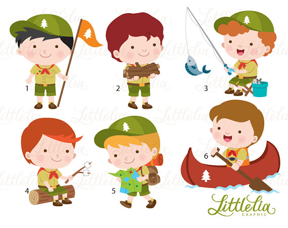 Campingcrafting clipart vector library stock Boys scout clipart - boys camping clipart - 17033 | Products | Clip ... vector library stock