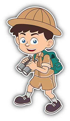 Boy scout cartoon clipart jpg stock Amazon.com: Boy Scout Binoculars Cartoon Window Truck Car Bumper ... jpg stock