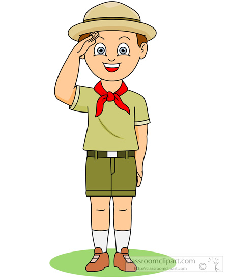 Students saluting clipart