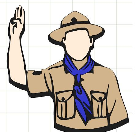 10+ Boy Scouts Clip Art | ClipartLook png black and white stock