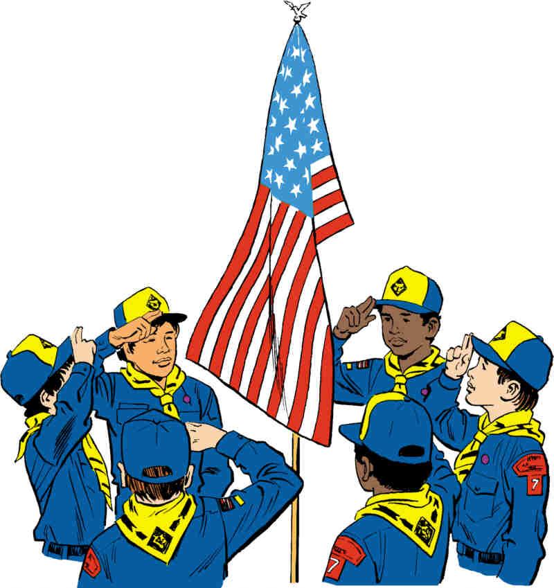 Boy scout flag clipart clip art free download Download cub scout pledge of allegiance clipart Cub Scout Scouting ... clip art free download