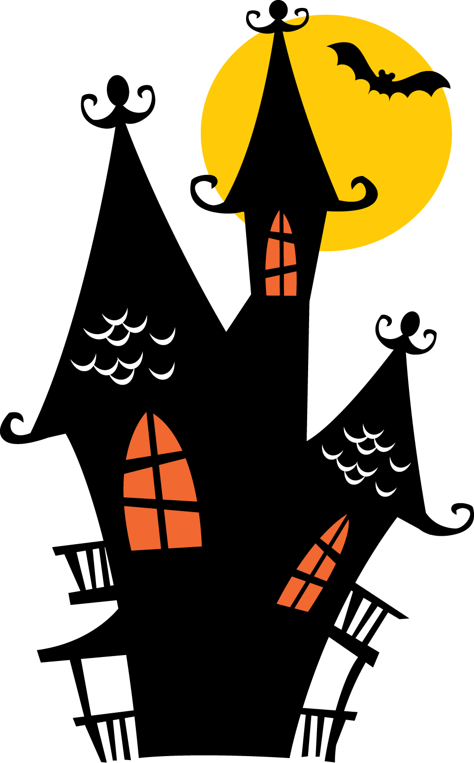 Haunted house silhouette clipart svg free stock Halloween - Halloween-4.png - Minus | felt- holidays/ easter ... svg free stock