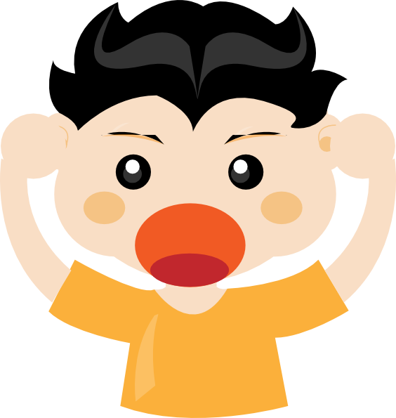 Boy shouting clipart vector library library Boy Shouting clip art - vector | Clipart Panda - Free Clipart Images vector library library