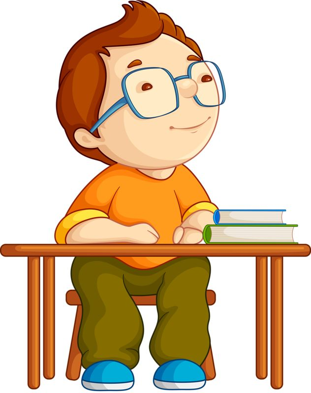 Boy sitting at desk thinking black and white cartoon clipart vector Thinking Student Clipart | Free download best Thinking Student ... vector