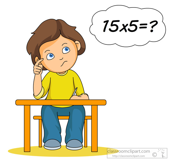 Boy sitting at desk thinking black and white cartoon clipart jpg free library Free Thinking Clipart, Download Free Clip Art, Free Clip Art on ... jpg free library