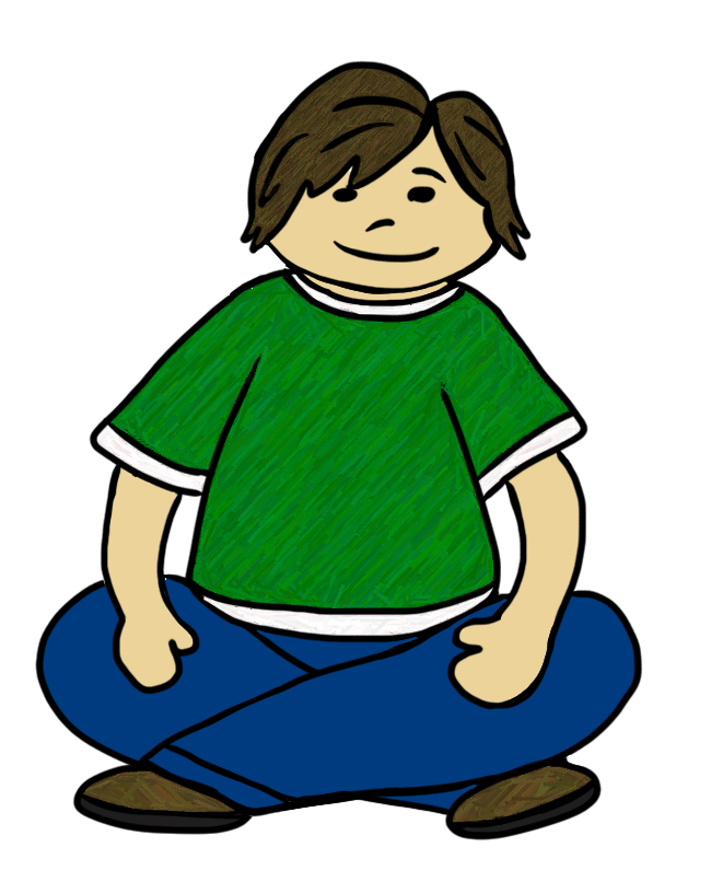 Clipart child sitting criss cross png download Sitting Criss Cross Applesauce Position free image png download