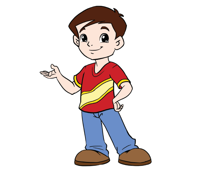 Boy sitting cross legged clipart image royalty free How to Draw a Boy in a Few Easy Steps | Pinterest | Drawing guide ... image royalty free