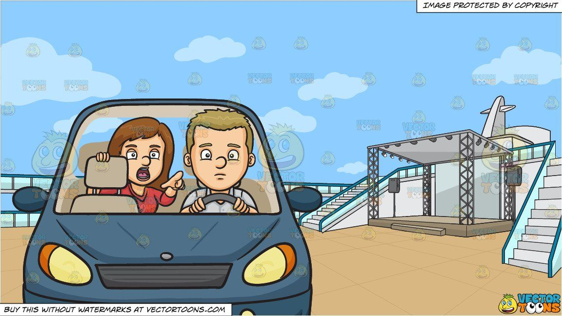 Boy sitting in backseat of car clipart graphic royalty free stock clipart #cartoon Backseat Driver and An Empty Deck Of A Cruise Ship ... graphic royalty free stock
