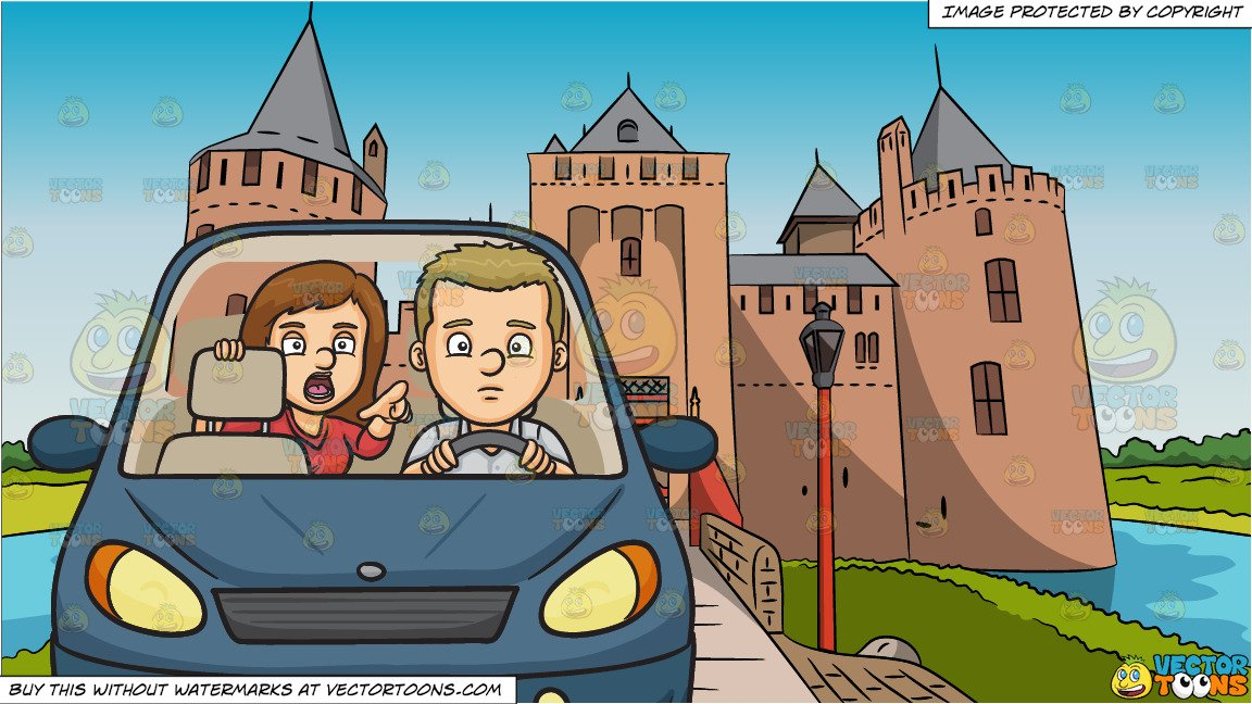 Boy sitting in backseat of car clipart image free download Backseat Driver and Entrance To A Castle Background image free download