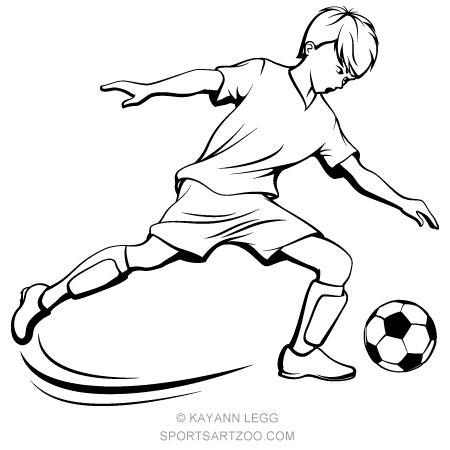 Boy soccer player clipart black and white vector freeuse library Soccer Boy Kicking | Soccer Designs in 2019 | Soccer boys, Soccer ... vector freeuse library
