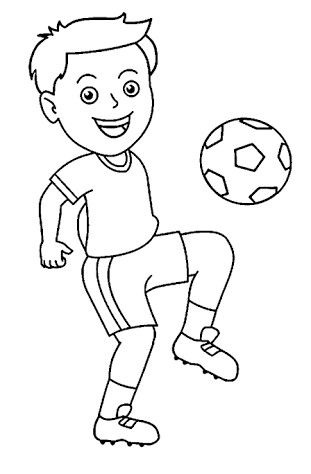Boy soccer player clipart black and white banner royalty free Pin By Nesma Safwat On Others Pinterest Coloring For Kids With ... banner royalty free