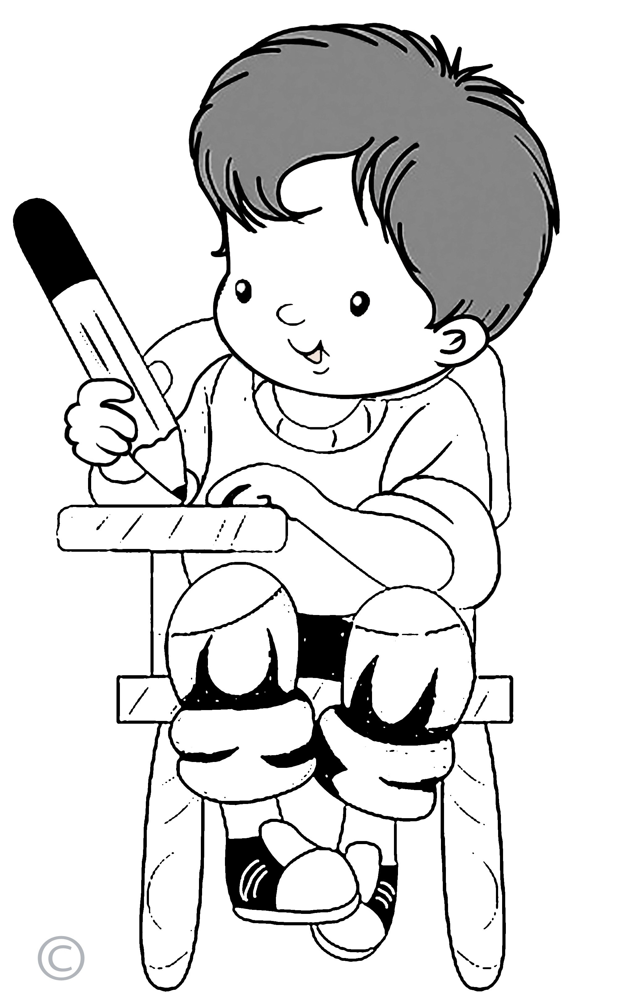 Boy standing in corner clipart black and white svg free library Children Writing Clipart Black And White | Templates Corner for ... svg free library