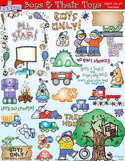 Boy stuff clipart clip download Boy Things - DJ Inkers clip download