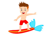 Boy surfing clipart graphic royalty free stock Sports Clipart - Free Surfing Clipart to Download graphic royalty free stock