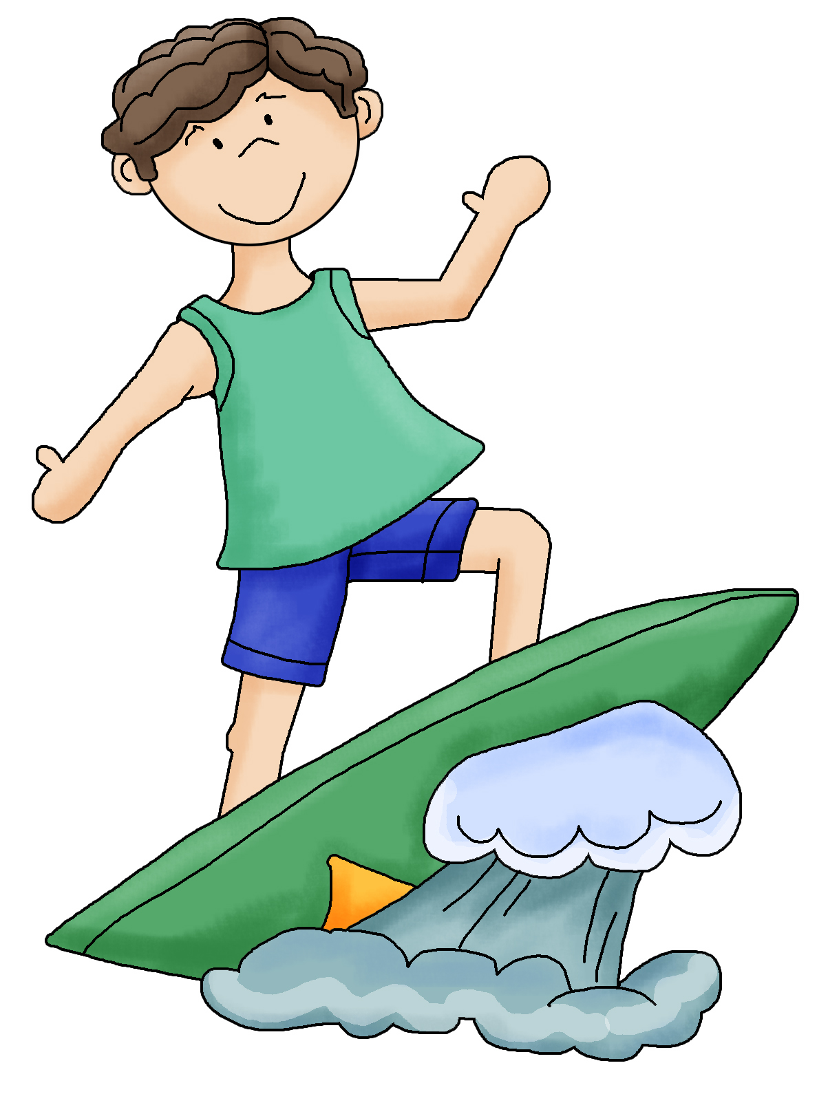 Boy surfing clipart png black and white stock Free Surfer Cliparts, Download Free Clip Art, Free Clip Art on ... png black and white stock