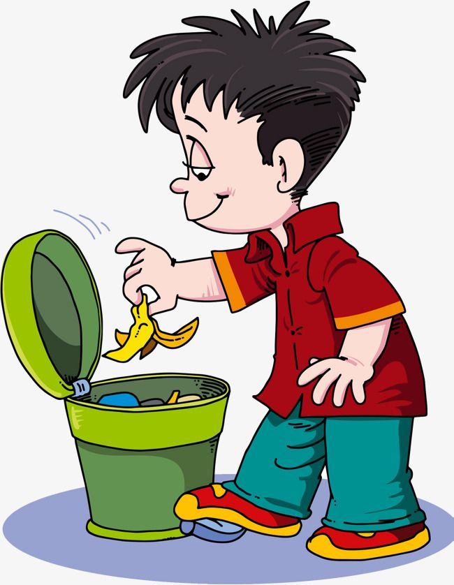 Boy take out the trash clipart free jpg freeuse Rubbish Thrown Into The Trash, Litter, Banana Peel, Child PNG ... jpg freeuse