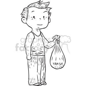 Boy take out the trash clipart free graphic royalty free download pick up clipart - Royalty-Free Images | Graphics Factory graphic royalty free download
