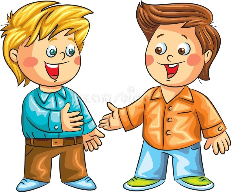 Children speaking clipart graphic free stock Two Happy Boys Talking. Vector Illustration Stock Vector intended ... graphic free stock