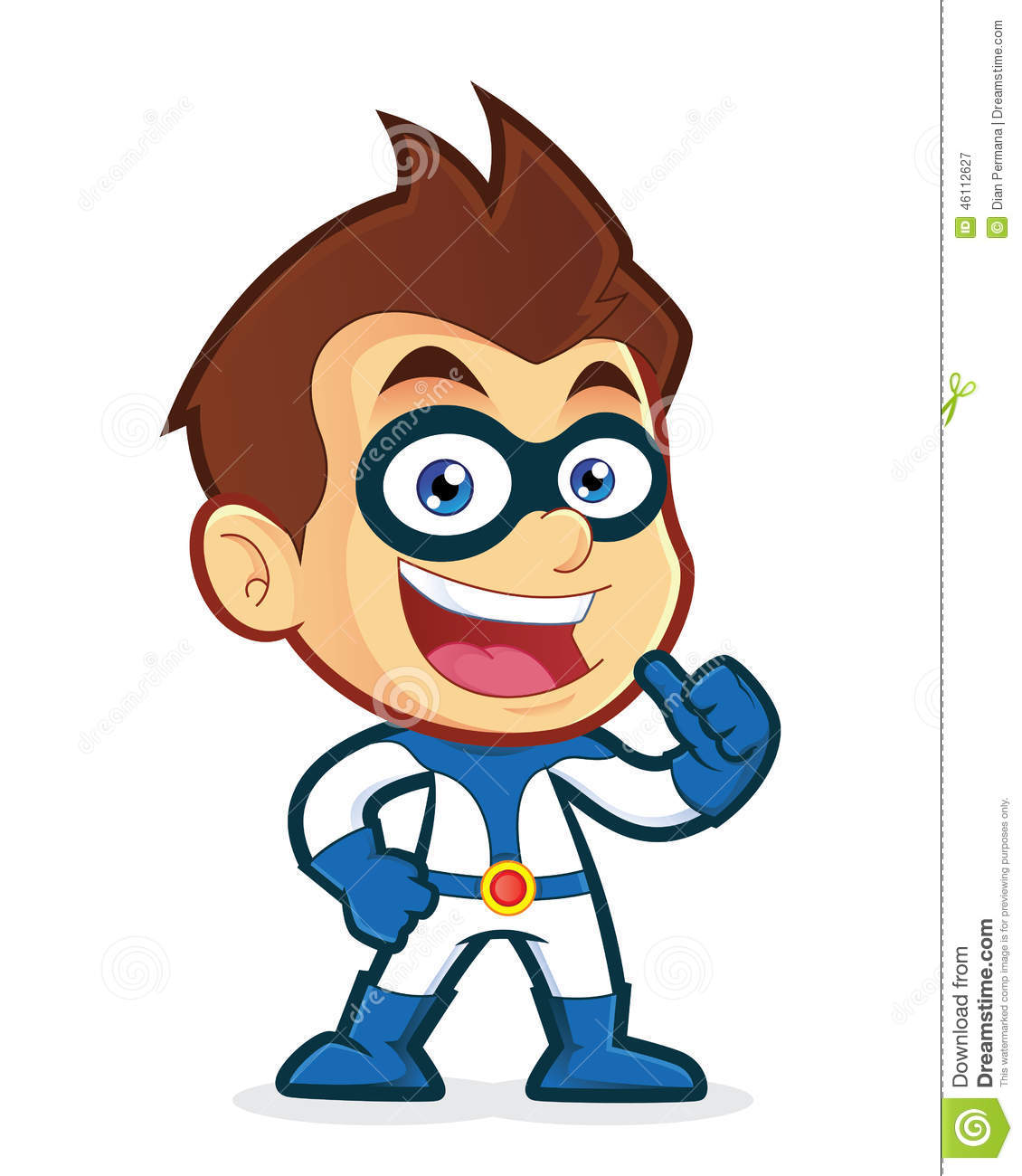 Boy thumbs up clipart image royalty free library Superhero Giving Thumbs Up Stock Vector - Image: 46112627 image royalty free library