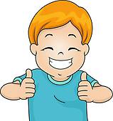 Boy thumbs up clipart image stock Thumbs up kid clipart - ClipartFest image stock
