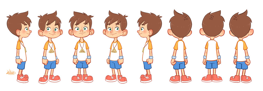 Boy turning around clipart svg royalty free library 1000+ images about Character Pose | Turn Kids on Pinterest ... svg royalty free library
